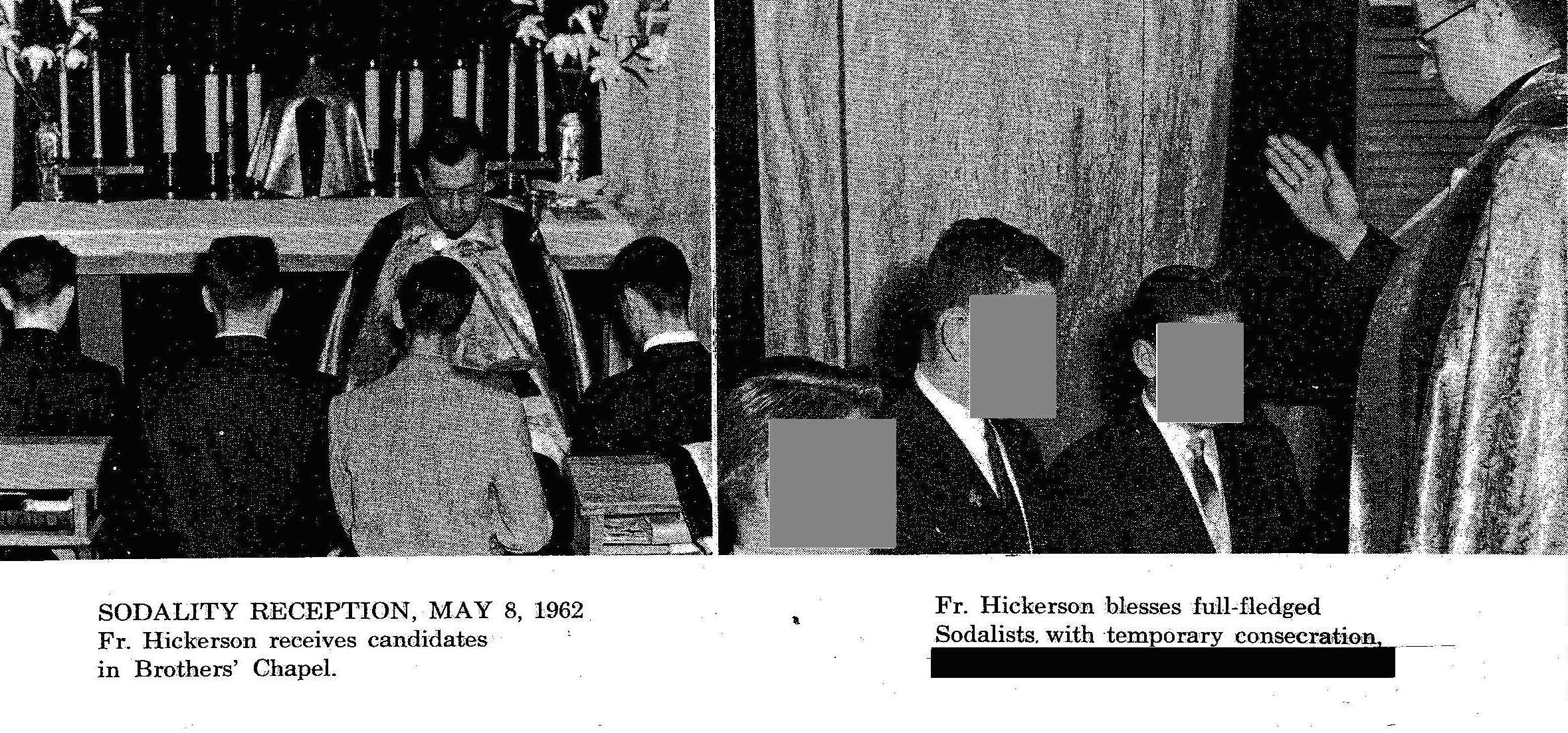 Hickerson 1961-63 at Provencher HS Saint Boniface World Sodality Day two pics  Redacted